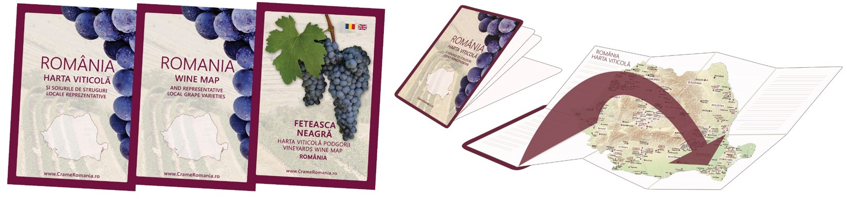 Wine Map Pocket Romania